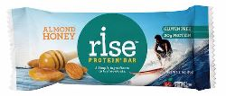 Rise Bar: almonds, honey, whey protein = easy to understand and produce